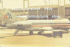 Original 35mm   Slide American Airline Jet At Terminal Aug 74