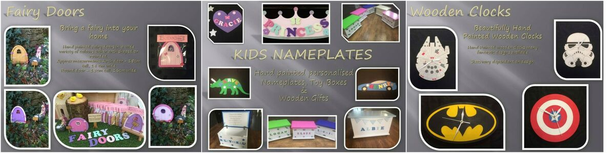 Kids Nameplates and Toyboxes