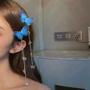 Butterfly Hairpins Elegant Tassel Long Hair Clips For Women Hair Accessorin8 XE