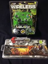 Xbox Accessories Lot - Textured I Glow Controller, Gears Of War Faceplate Xbox3