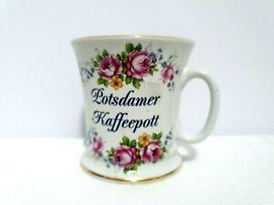 Theo Rubn Tea Cup Floral Bavaria Germany White Bone China Coffee Pot Mug