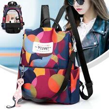 Womens Ladies Waterproof Anti-theft Nylon Backpack Travel Rucksack Shoulder Bags
