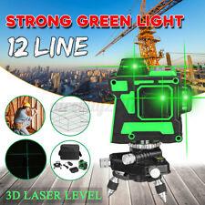 12 Linien Laser Level Grün Self 3D 360° Rotary Cross Messwerkzeug Grün Kit