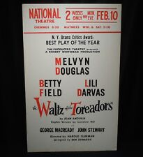 Vintage Poster-The Waltz of the Toreadors-Melvyn Douglas--Theatre Window Card
