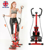 New Stepper Fitness Exercise Handle Bar Machine Cardio Foldable Workout UK