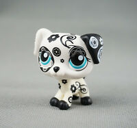 Littlest Pet Shop LPS Toys #1613 Puppy Black and White Flower Gift Dalmatian Dog