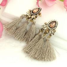 Fashion Lightweight Earrings Tassel Triple Beige Drop Ear Women Jewelry For Gift