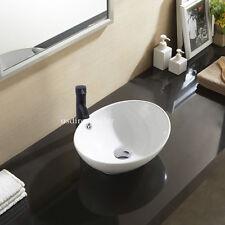 Oval Bathroom Ceramic Counter Top Wash Basin Sink Washing Modern Design