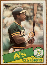 New listing 1985 Topps #115 Rickey Henderson - HOFer! All-Time Steals Leader! A's Yankees