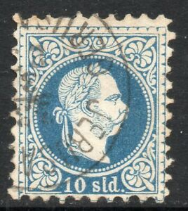 Austrian POs in the Levant: 1875 Franz Joseph 10 so. used in Jerusalem