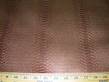 ~2 5/8 Yds~Snakeskin Embossed Faux Leather W Backing Upholstery Fabric For Less~