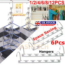 4/6/8/12PCS Space Saver Closet Organizer Storage Clothes Hanger Magic Hook Metal