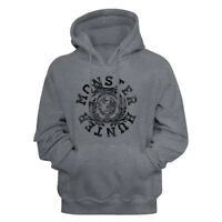 Monster Hunter Video Game Circle Logo Gun Metal Heather Adult Pullover Hoodie