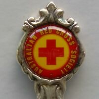 Australian Red Cross Society Red Souvenir Spoon Teaspoon (T156)