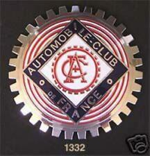 AUTOMOBILE CLUB OF FRANCE CAR BADGE - GRILLE BADGE- FRENCH AUTO CLUB