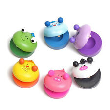 New 1PC Wooden Finger Castanet Motor Music Castanets Baby Toy Christmas Gift2019