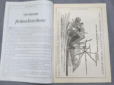 Vintage 1886 DEERING IHC Twine Binder Sales Catalog Brochure 20 page IH early!!!