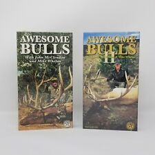Elk Hunting Awesome Bulls 1 & 2 Bow and Rifle 2 Films VHS Tape New R3L
