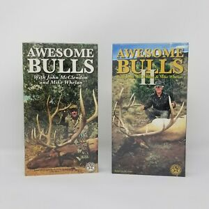 Elk Hunting Awesome Bulls 1 & 2 Bow and Rifle 2 Films VHS Tape New