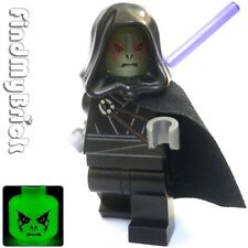 SW519 Lego Sith Lord Dark Jedi Custom Minifigure with Head Glow In The Dark NEW