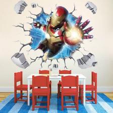 Iron Man Wandbild Wandtattoo Decke Bild Wand Durchbruch Sticker Neu Top WoW blau
