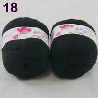4Balls X50g Thin Cashmere Soft Silk Velvet Baby Finger Knitwear Scarf Yarn 05