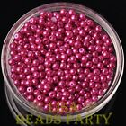 New 500pcs 4mm Round Czech Glass Pearl Loose Spacer Beads Rose