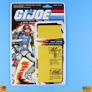 GI JOE ARAH - Fast Draw 1987 - Uncut File Card - Cardback - [ARAH-240]
