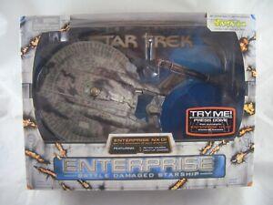 "Star Trek 12"" Enterprise Battle Damaged Starship Art Asylum Boxed  NX-01"