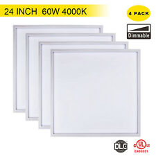4x UL DLC 60W 2x2FT T-SUN Dimmable LED Panel Ceiling Down Light 4000K Lamp US