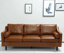 2018 New Design Scandinavian Retro Style Tan 3 Seater Sofa Premium Quality PU