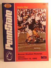 Beaver Stadium Pictorial football program: Nov. 13, 1993 Penn State vs Illinois