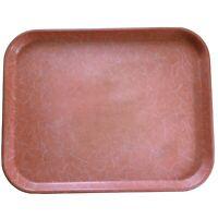 "Vintage Mid-Century Kys-Ite Cafeteria Tray Salmon Pink Melamine Melmac 18""x14"""