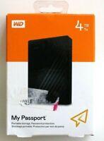 WD 4TB Black My Passport Portable External Hard Drive - USB 3.0 - Brand New
