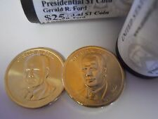 2 Coin Set 2016 Both D Gerald R. Ford Presidential Golden Dollar. Gold $1 UNC