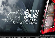 Kerry Blue Terrier - Car Window Sticker - Dog Sign -V01