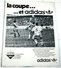 FOOTBALL POSTER PUB ADIDAS REIMS V LYON 1/32° FINALE COUPE DE FRANCE 1975
