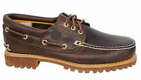 Timberland 3 Eye Classic Lug Mens Lace Up Brown Leather Boat Shoes 30003 D133