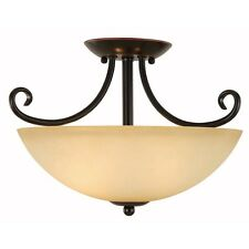Oil Rubbed Bronze Semi-Flush Mount Ceiling Light Fixture #168052
