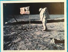 OFFICIAL NASA PICTURE #16 *APOLLO ASTRONAUT PLACES FLAG