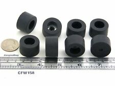 "100  Large Rubber Bumpers With Embedded Washers - Feet - 1"" Diameter 1 Inch"