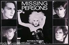 MISSING PERSONS 1984 RHYME AND REASON PROMO POSTER