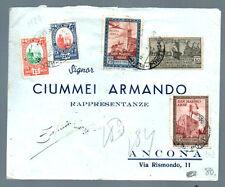 storia postale SAN MARINO espresso del 13.6.42 con 5 valori RARA AFFRANCATURA