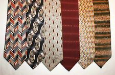 New Lot of 6 Designer Neck Ties w Geometric Patterns, Bill Blass and more L028