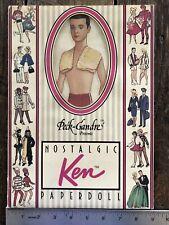 "1989 Peck-Gandre Collection ""Ken"" Nostalgic Paper Doll BARBIE MATTEL + Clothes"