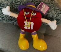 M&M'S RED M&M Plush Stuffed Doll Rain Gear SPRING TIME Rainy Day NEW NWT