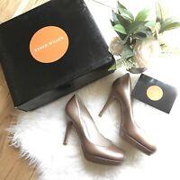 Karen Millen Size 5.5 38.5 neutral nude shoes high platform skinny heel new