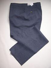 SANSABELT 42 LONG BLUE/GRAY Polyester PANTS FLAT FRONT WESTERN POCKET UNHEMMED