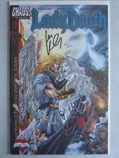 Lady Death - Love Bites #1 DF/Wizard Blue Foil Signed Kaminski Ltd. 500 W/COA