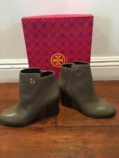 NEW Tory Burch Junction Women's Porcini Tumbled Leather Ankle Booties Size 7